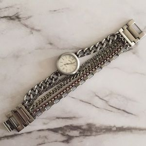 "Accessories - Mixed Metal Multiple Chain Watch 7..2"" Length"